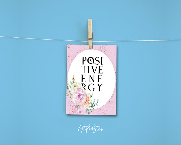 Positive Energy Happiness Quote Customized Greeting Cards