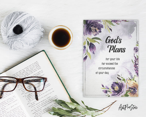 God's plans for your life far exceed the circumstances Bible Verse Customized Greeting Card