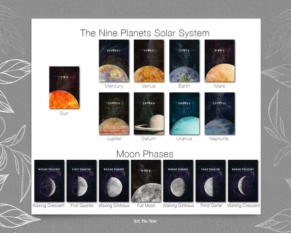 First Quarter Moon Phases Universe Space Customizable Greeting Card