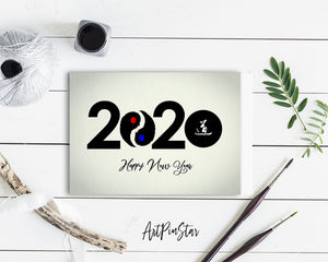 Happy New Year 2020 Amazing Customized Greeting Card