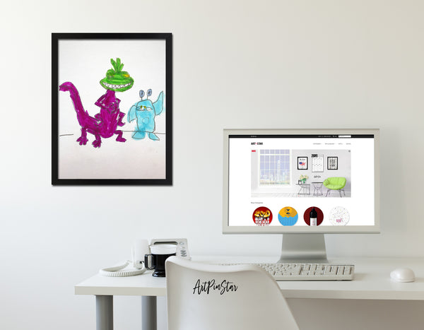 Monster Inc Boggs & Boo colorful painting Kids Art