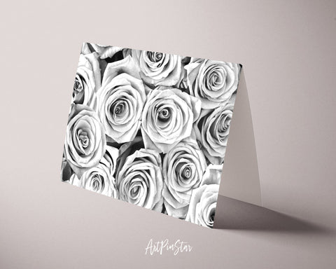 Roses Flower Photo Art Customized Gift Cards