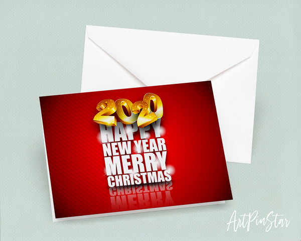 Happy New Year Merry Christmas 2020 Amazing Customized Greeting Card