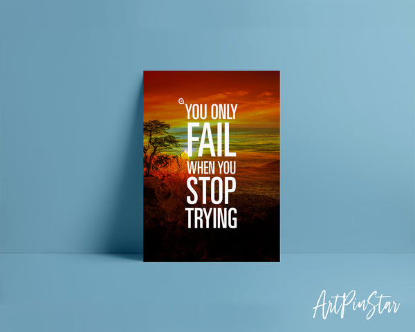You only fail when you stop trying Bible Verse Customized Greeting Card