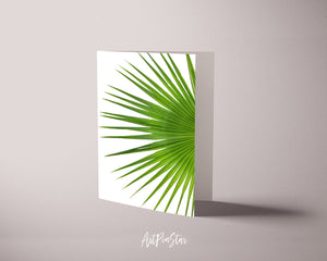 Palm Leaf Botanical Garden Customized Greeting Card