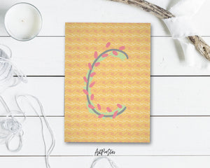 Alphabet Forest Letter C Animal Monogram Note Cards