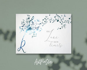 Inspiring Music Quote Letter R Symbol Real love has no limits