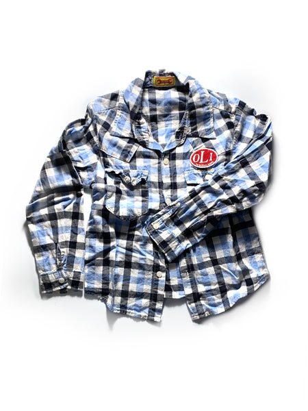 Olivie Plaid Button Down Shirt 5T