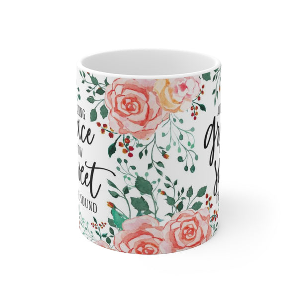 Amazing Grace How Sweet The Sound White Ceramic Coffee Tea Mug Cup