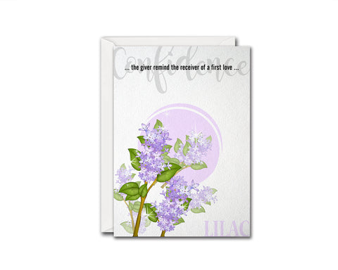 Lilac Flower Meanings Symbolism Customized Gift Cards