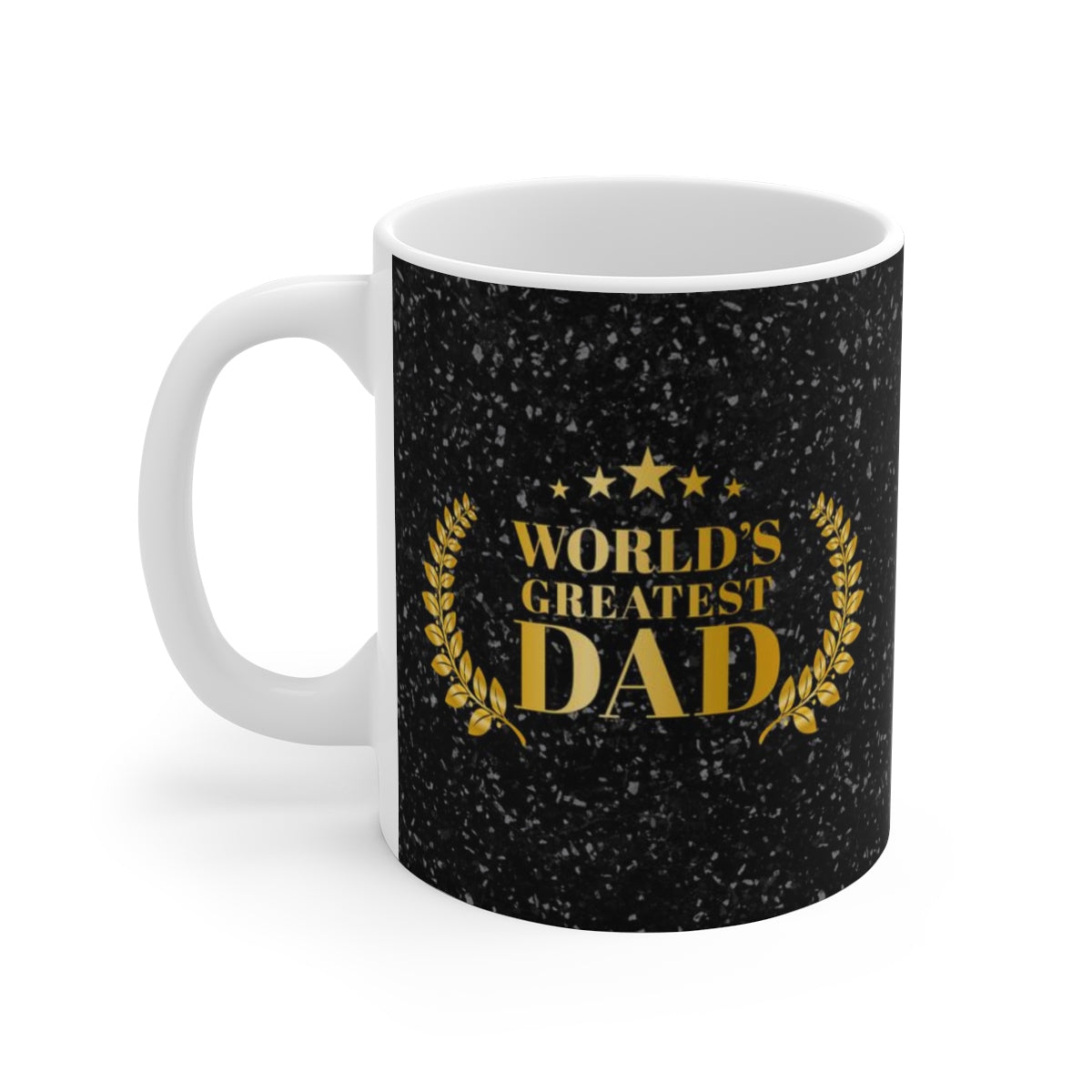 World's Greatest Dad Father's Day White Ceramic Coffee Tea Mug Cup