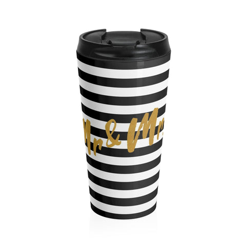 Mr. & Mrs. Stainless Steel Travel Mug