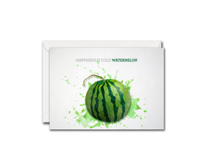 Happyness is cold watermelon Food Customized Gift Cards