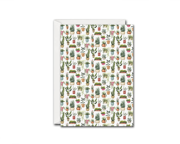 Potted Plants Botanical Garden Customized Greeting Card