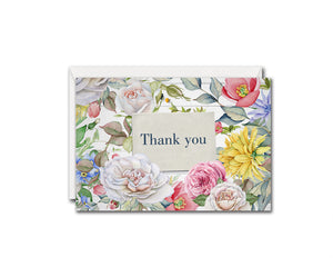 Thank You Flower Messages Note Cards