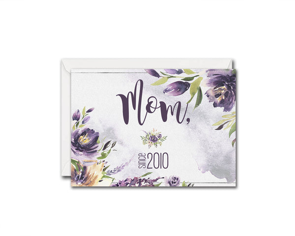 Mom since 2010 Mother's Day Occasion Greeting Cards