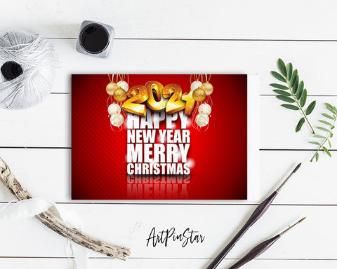 Happy New Year Merry Christmas 2021 Amazing Customized Greeting Card