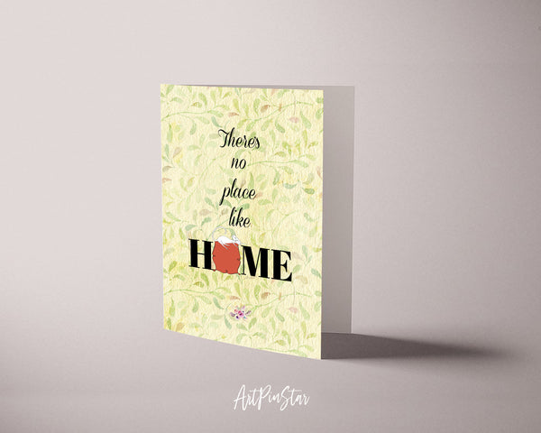 There's no place like home Happiness Quote Customized Greeting Cards