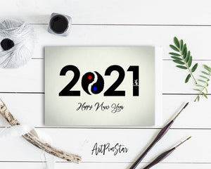 Happy New Year 2021 New Year Customized Greeting Card