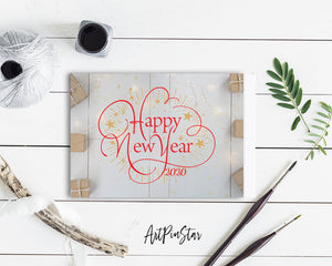 NewYear 2020 Happy Customized Greeting Card