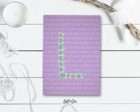 Alphabet Forest Letter L Animal Monogram Note Cards