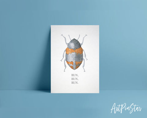 Run Run Run Insect Animal Greeting Cards