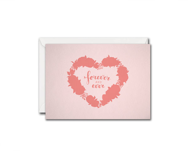 Forever and ever Friendship Customized Greeting Card