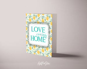 Love Coming Home Happiness Quote Customized Greeting Cards