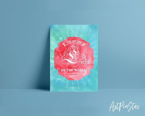 You are the Light of the world Matthew 5:14 Bible Verse Customized Greeting Card