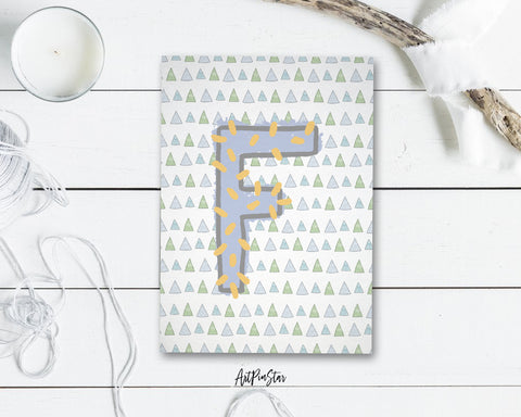 Alphabet Forest Letter F Animal Monogram Note Cards