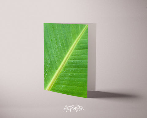 Banana Leaf Botanical Garden Customized Greeting Card