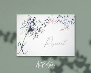 Inspiring Music Quote Letter X Symbol X Rejected