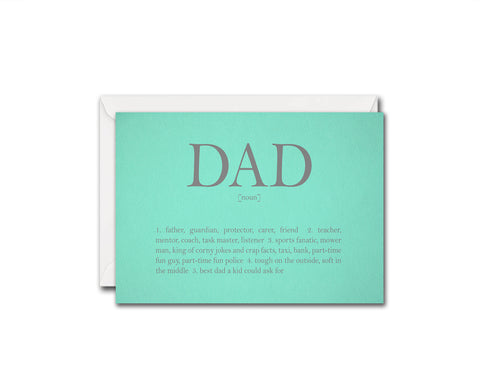 Dad meaning Father's Day Occasion Greeting Cards