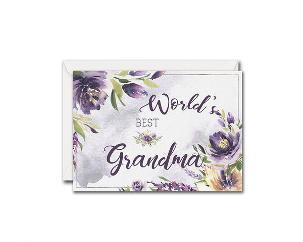 World's best grandma Grandparents Occasion Greeting Cards