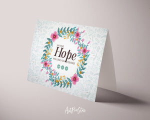 Having hope will give you courage Job 11:18 Bible Verse Customized Greeting Card
