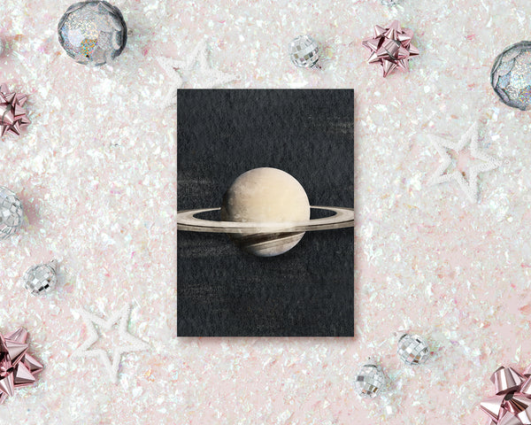 Saturn Planet Solar System Customizable Greeting Card