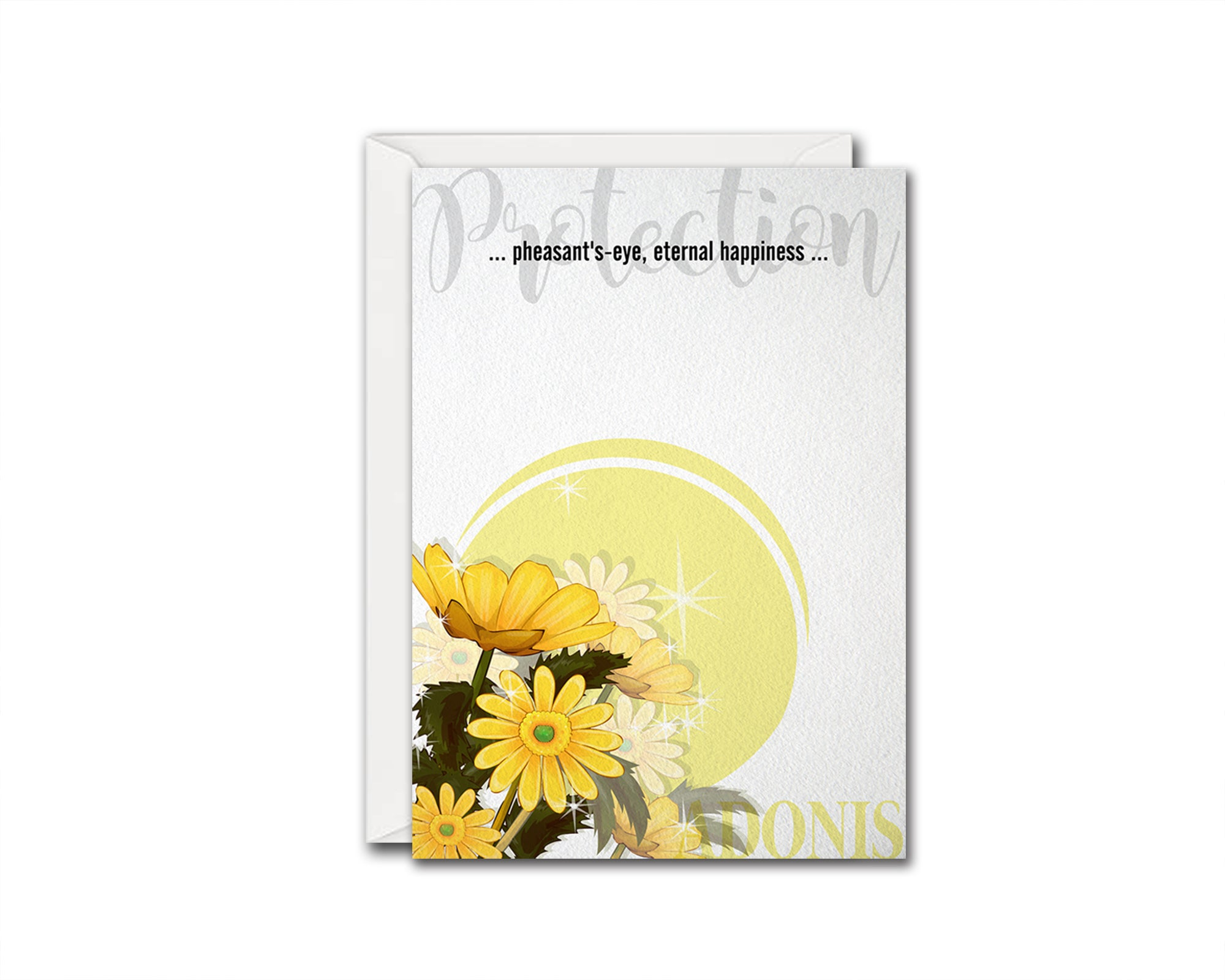 Adonis Flower Meanings Symbolism Customized Gift Cards