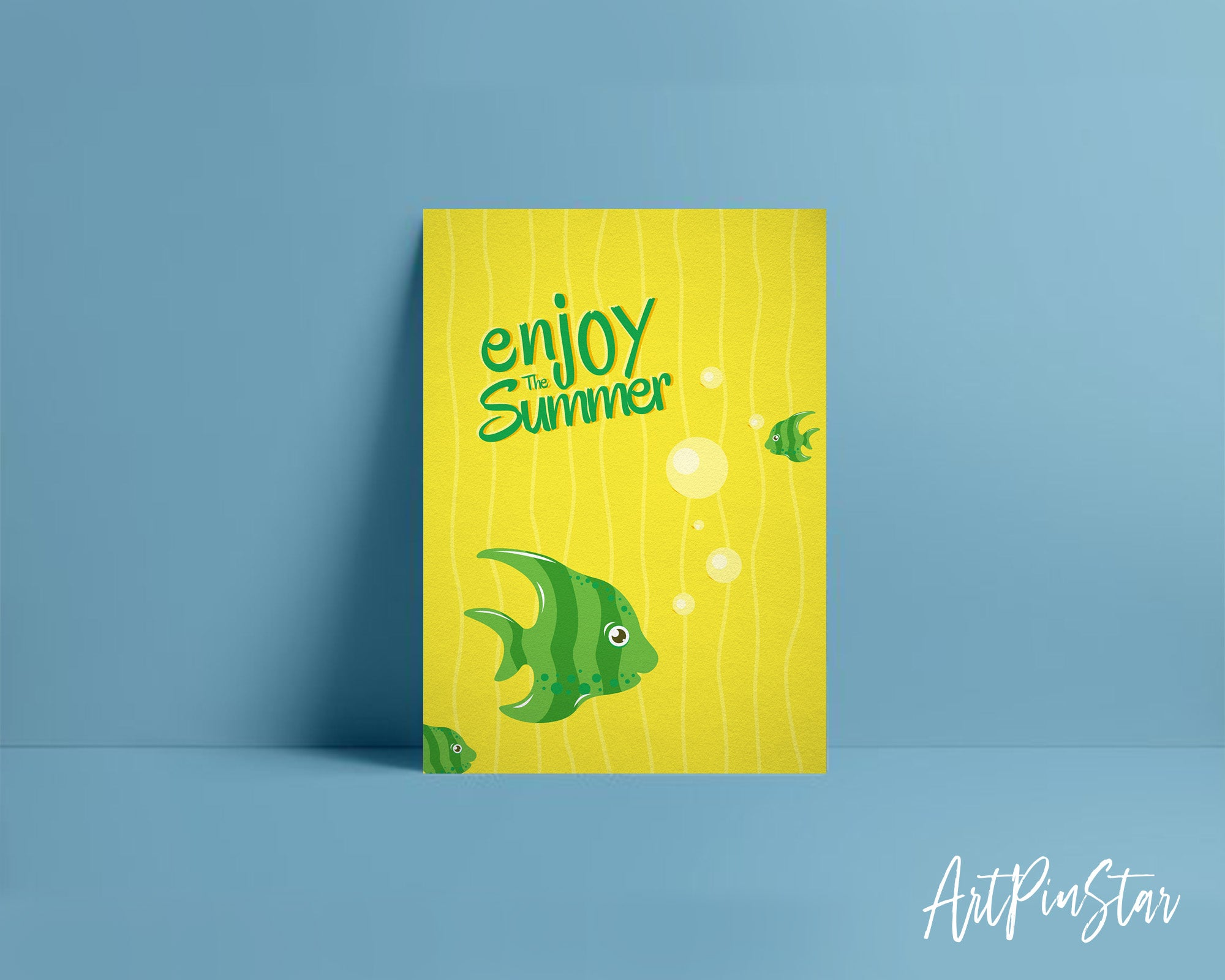 Enjoy the summer Fish Animal Greeting Cards