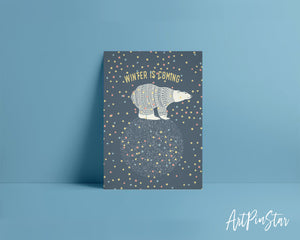 Winter is coming Polar Bear Animal Greeting Cards
