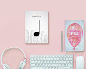 Just a note to say Hello Quarter Note Quarter Note Music Gift Ideas Customizable Greeting Card