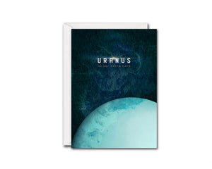 Uranus Planet Orbiting Stars Solar System Customizable Greeting Card
