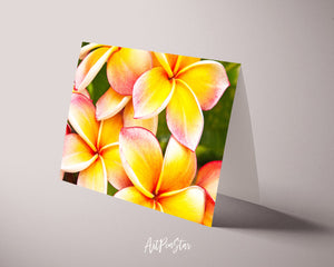 Plumeria Flower Photo Art Customized Gift Cards