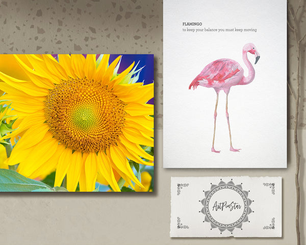 Sunflowers Flower Photo Art Customized Gift Cards