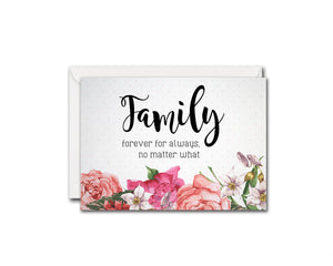 Family forever for always no matter what Love Customized Gift Cards