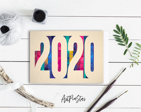 2020 New Year Customized Greeting Card