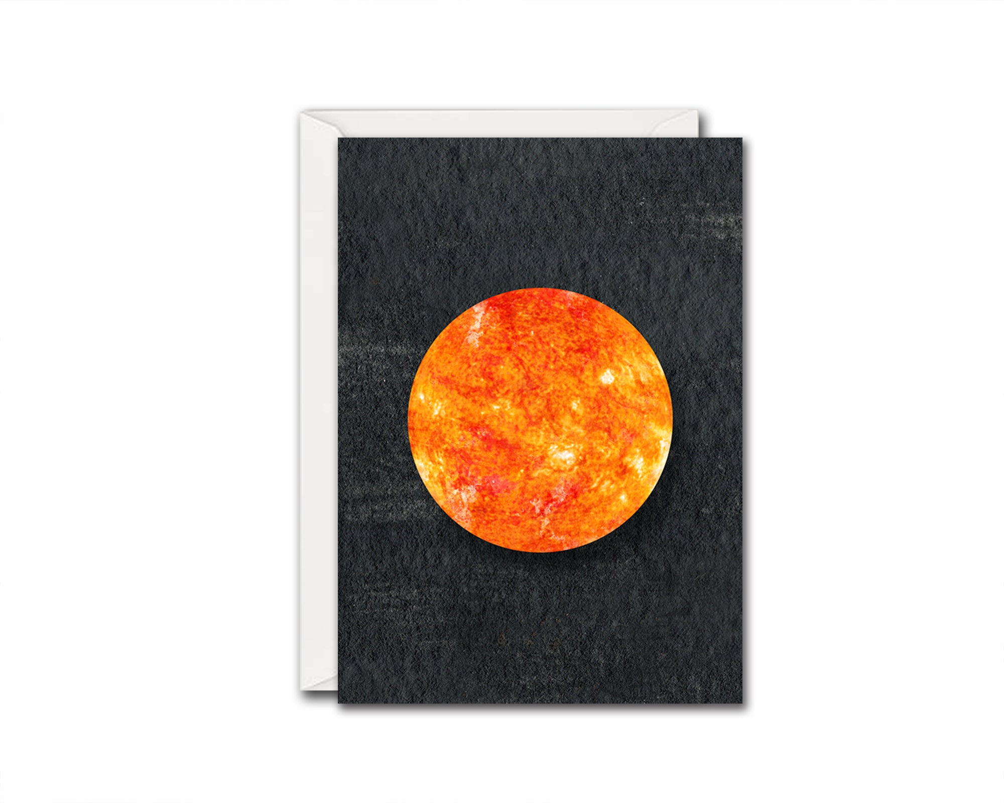Sun Planet Solar System Customizable Greeting Card