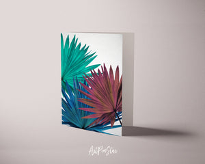 Green Palm Leaf Botanical Garden Customized Greeting Card