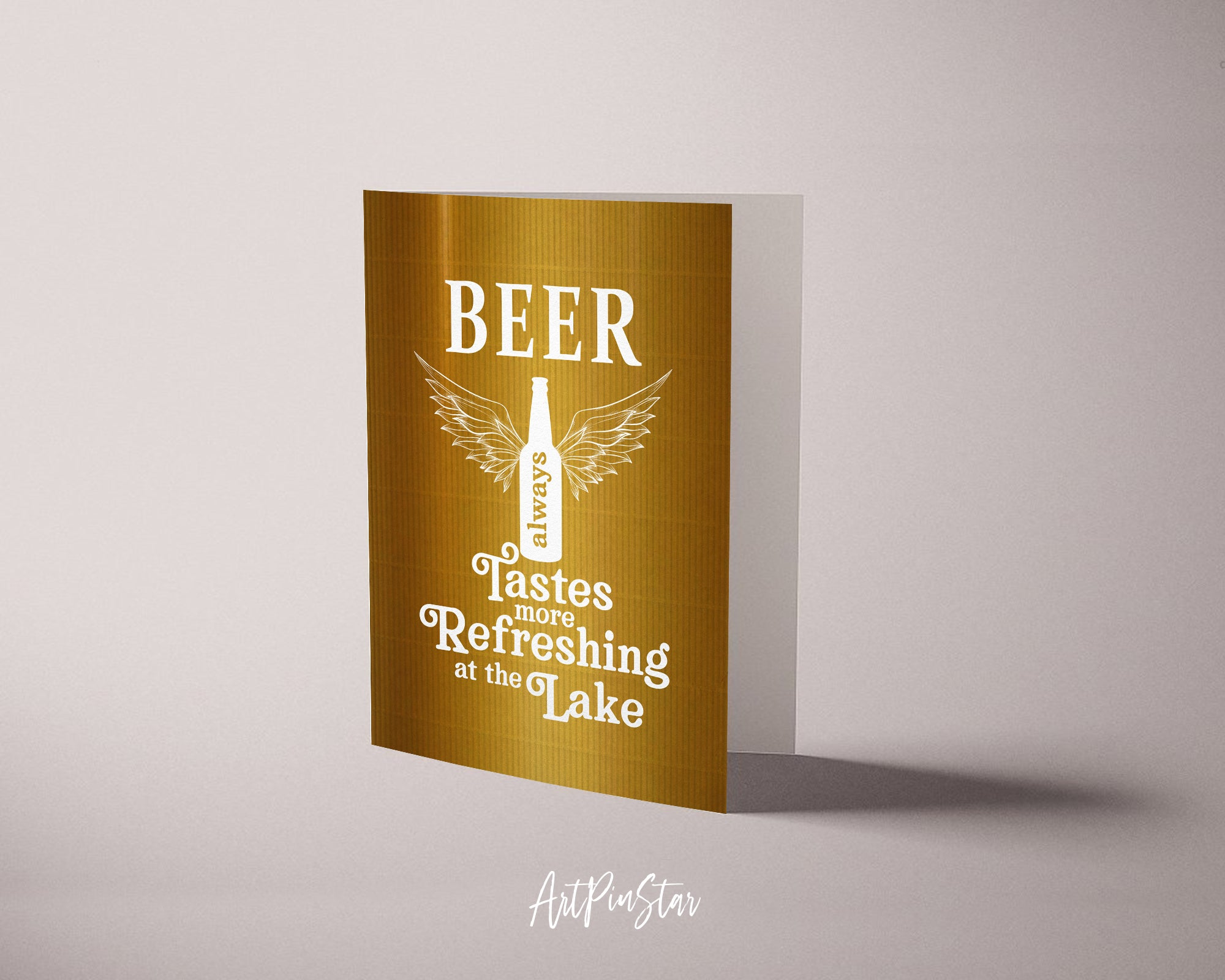 Beer always tastes more refreshing at the lake Funny Quote Customized Greeting Cards