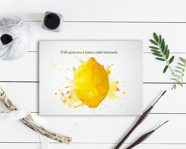 If life gives you a lemon, make lemonade Food Customized Gift Cards