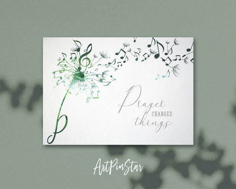 Inspiring Music Quote Letter P Symbol Prayer changes things